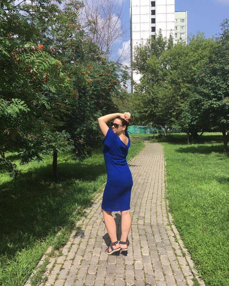 И ещё ракурс!)#вязаноеплатье #платьеназаказ #платье #summer #модницы #bluedress #платьемечты #хлопковоеплатье