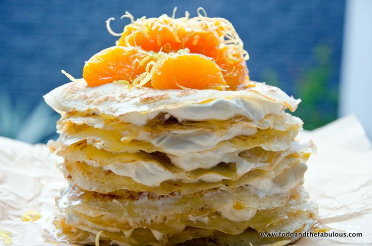 Pancake Stack Cake with Hot ClemenGold Compote