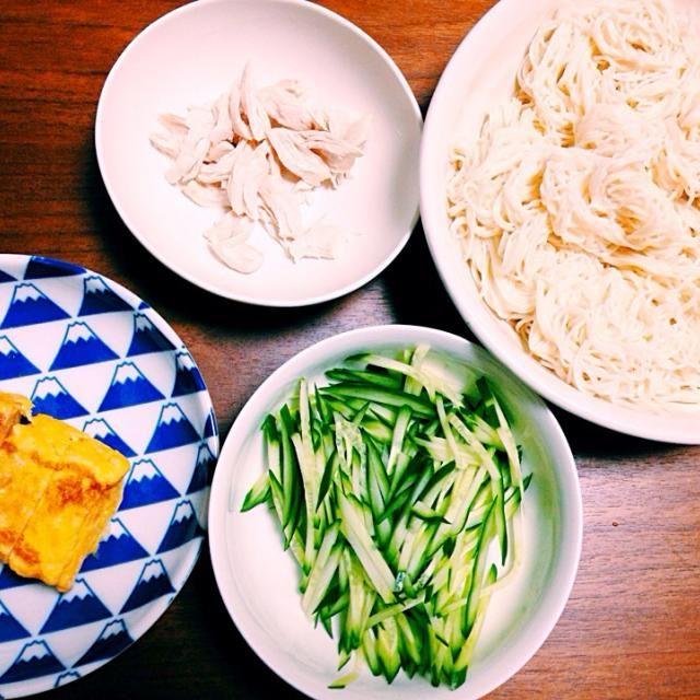 5/2 夕飯 - 9件のもぐもぐ - そうめん、出し巻き卵 by nyokotan