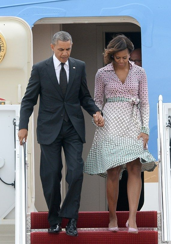 The First Lady with Mr. President http://www.huffingtonpost.com/2014/05/15/michelle-obama-dress-new-york_n_5332815.html?utm_hp_ref=style&ir=Style