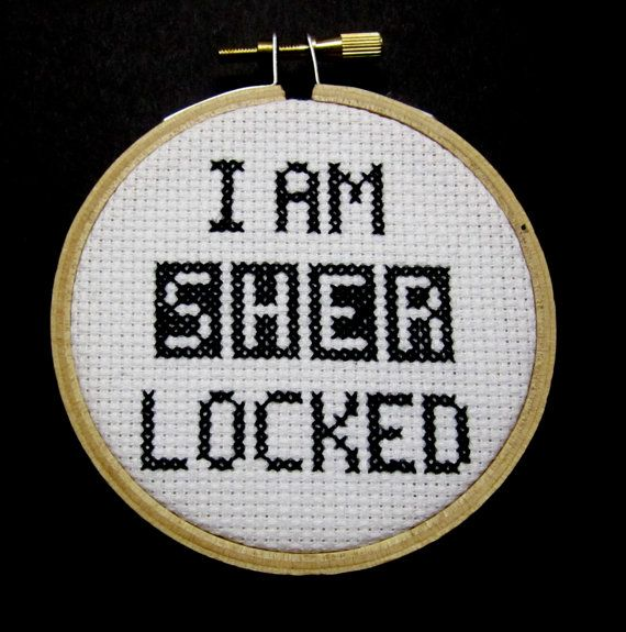I Am Sherlocked - Sherlock Cross Stitch Hoop