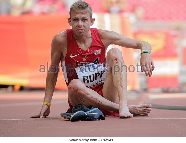 Beijing, China. 26th Aug, 2015. Galen Rupp of the USA looks on after the Men's 5000 m Round 1 of the 15th International - Stock Image