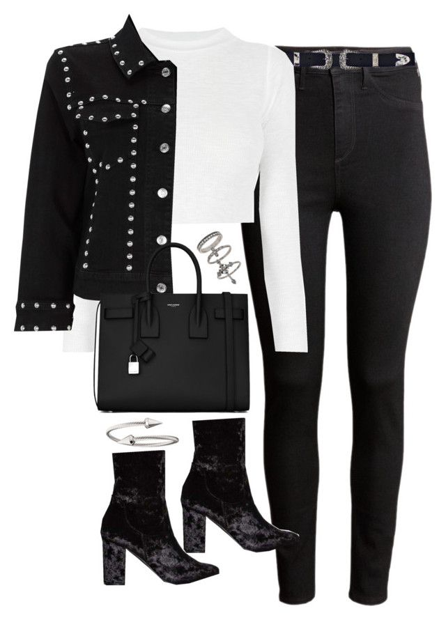 """""""Untitled #1795"""" by breannaflorence ❤ liked on Polyvore featuring H&M, Nasty Gal, Yves Saint Laurent, Jules Smith and Miss Selfridge"""