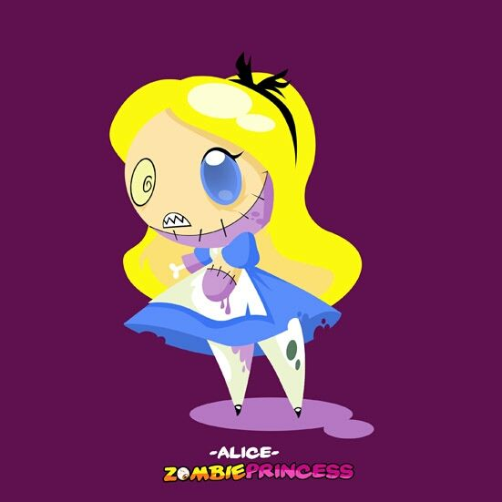 Disney Alice In Wonderland Crying: Chibi Zombie Princess: Alice By Favius.deviantart.com On