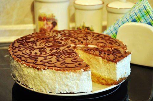 Cake «Bird's milk with the scent of lemon»