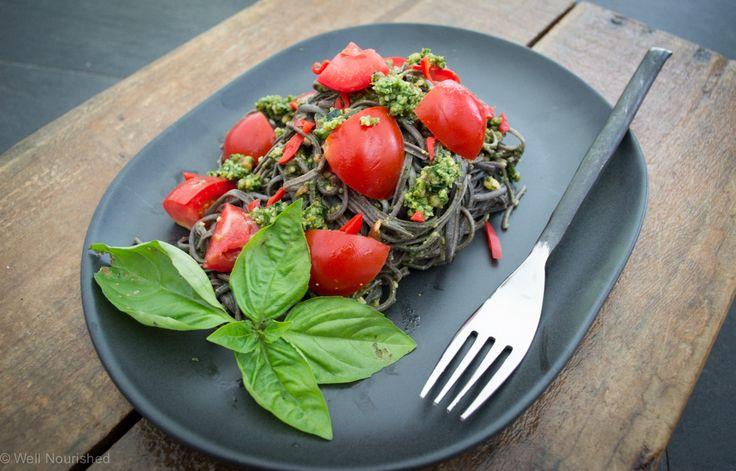 The best basil pesto recipe going. Well, definitely the most nourishing! Gluten…