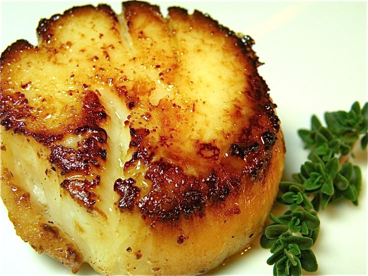 Butter-Fried Sea Scallops | The Hungry Mouse