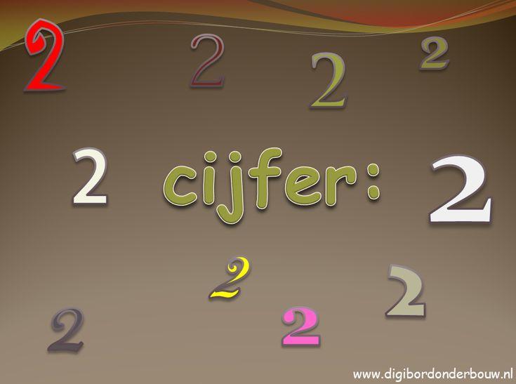 Digibordles: Cijfer 2. Waar zie je twee voorwerpen, dingen, mensen etc.  http://digibordonderbouw.nl/