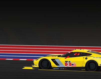 """Check out new work on my @Behance portfolio: """"Corvette Racing 2015"""" http://on.be.net/1Z8TrtC"""