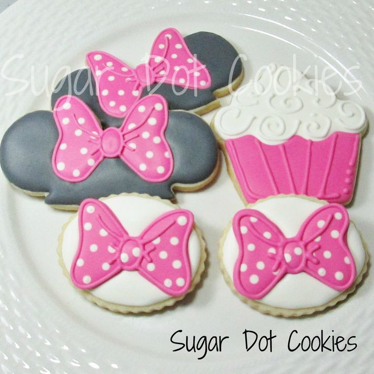 sugar+cookies+decorated+royal+icing+minnie+mouse+hat+bow+cupcake+pink.JPG 1,322×1,322 pixels