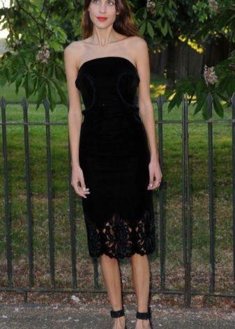 Бархатное платье Алексы Чанг