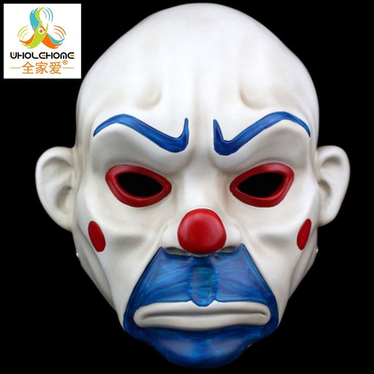 Adult Batman Joker Clown Bank Robber Mask - The Dark Knight Costume Halloween
