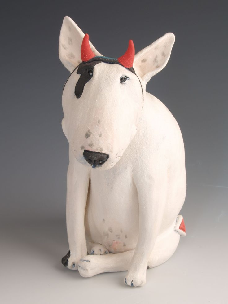 bull terrier artist 342 best dog sculptures 5 ceramic porcelain clay 1622