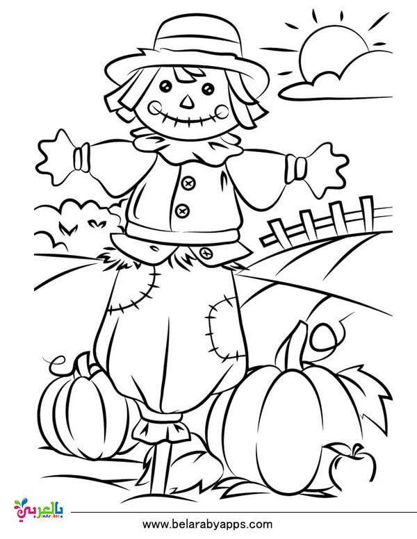 رسومات للتلوين عن فصل الخريف جاهزة للطباعة 2020 بالعربي نتعلم Scarecrow Coloring Pages Free Printable Fall Coloring Sheets Thanksgiving Coloring Pages