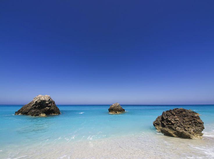 Wild sandy beach in Lefkada