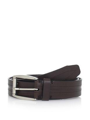 55% OFF Trafalgar Men's Center Stitched Belt (Brown)