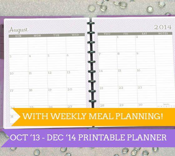 Oct 2013  Dec 2014 Planner in Purple Weave with by saynotsweetanne, $13.00