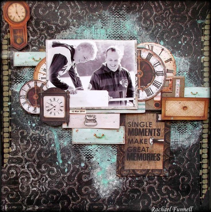 Single moments by Rachael Funnell  using Kaisercraft's Antique Bazaar