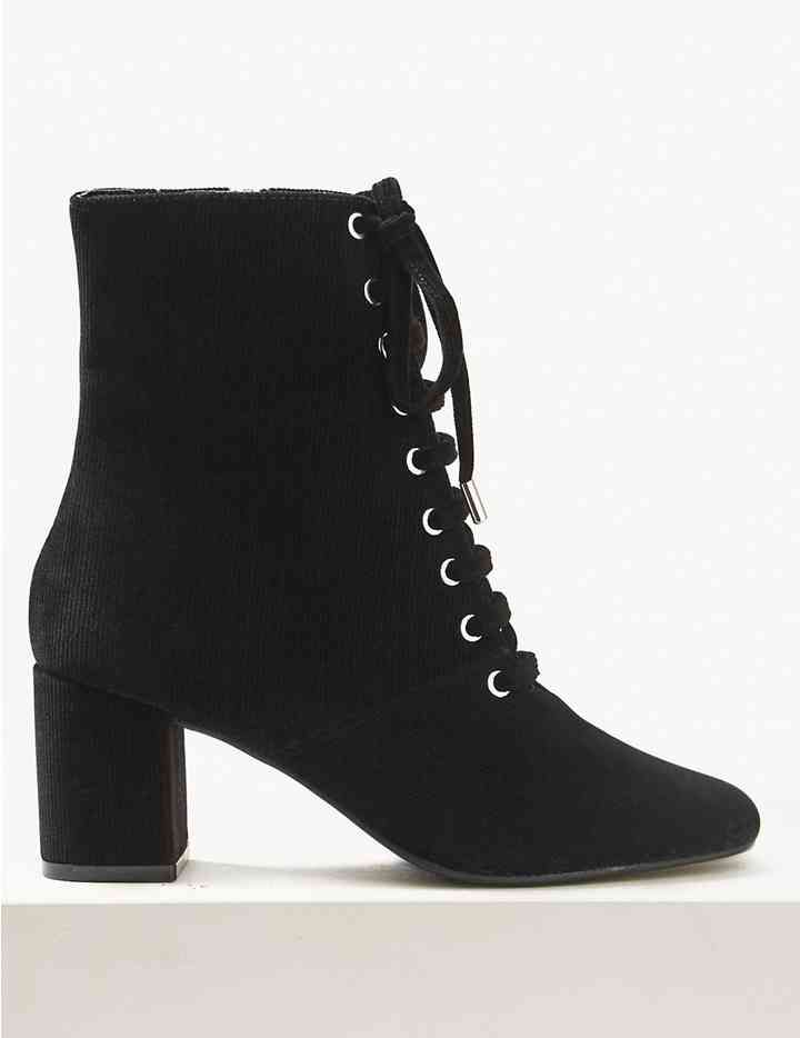 m&s block heel boots