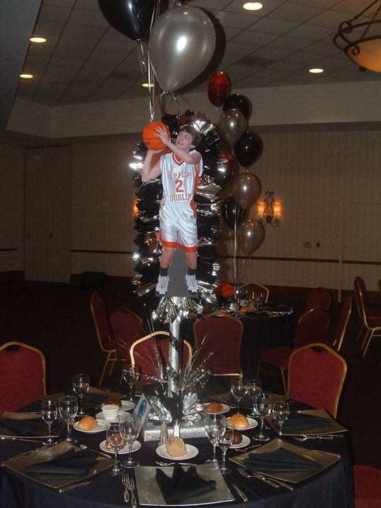 Banquet centerpieces basketball centerpiece