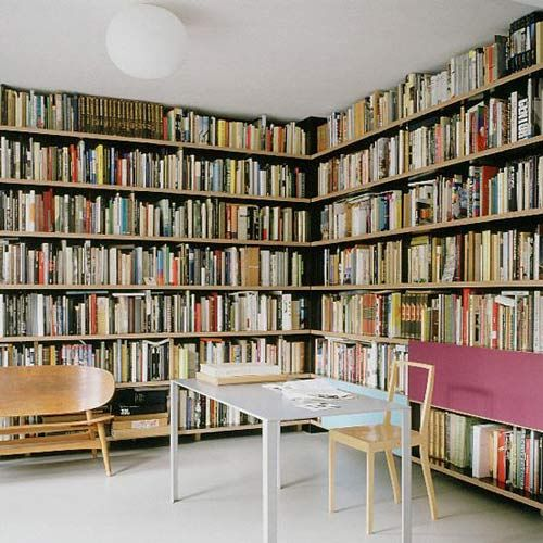 library #heaven... my photo book collection would be so happy here!