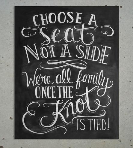 choose a seat, not a side
