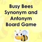 Free! Busy Bees synonyms and antonyms.  It is a board game activity with a bee theme.