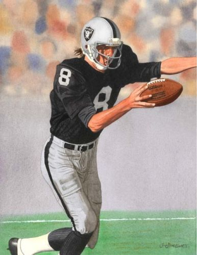 Ray Guy Oakland Raiders Art Print | eBay