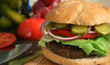 This burger is one of the holy grails of vegetarian cooking. Not only does it contain lots of complementary vegetable protein from its combination of grains and legumes but its meaty texture is delicious and hearty. This burger achieves the rare combination of being meatless yet hearty and delicious at the same time!