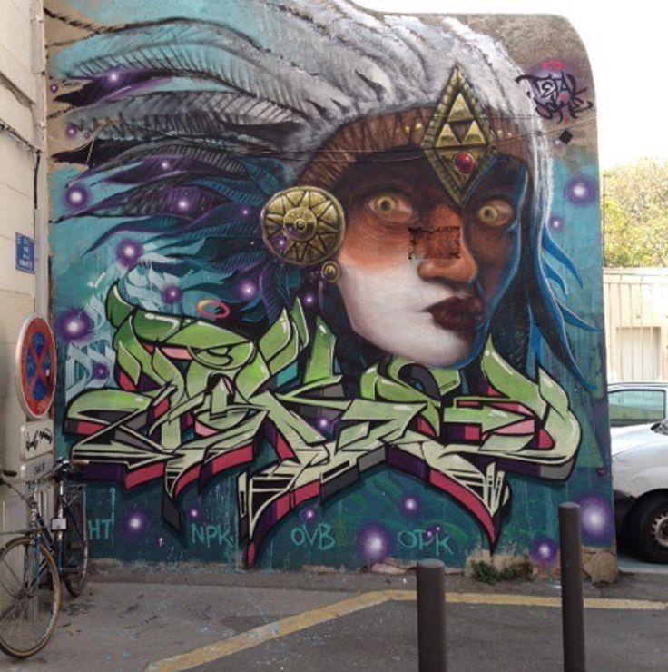 Tetal in le panier marseille france 2017 street art for Audrey hepburn mural los angeles