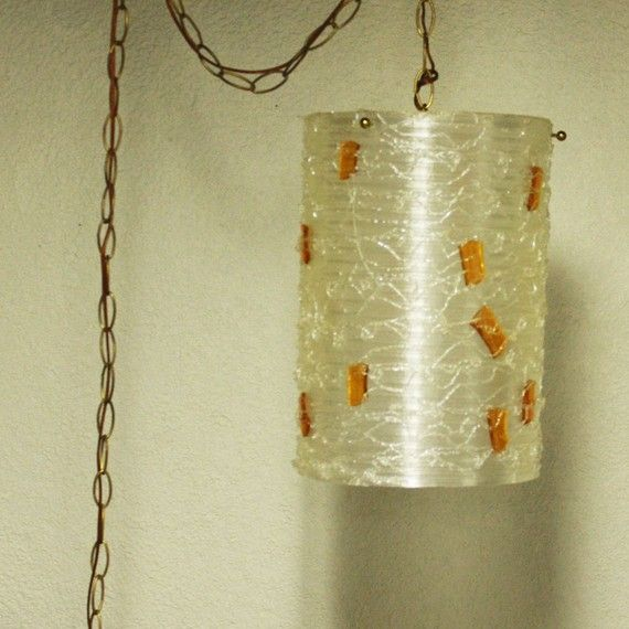 Hanging Lamp With Cord: Vintage Hanging Light