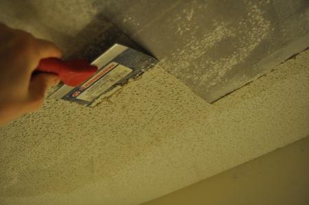 removing pop corn ceiling