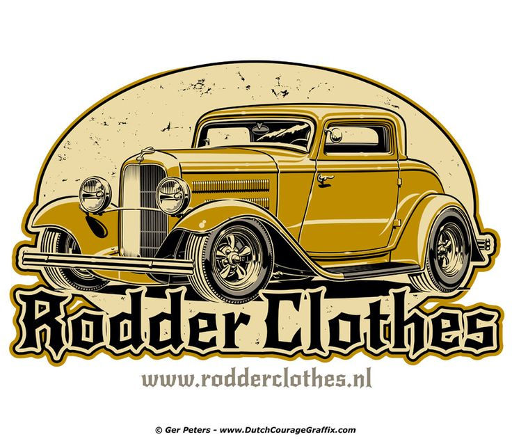 Rodder Clothes logo #hotrod #hot #rod #wear #logo #artwork