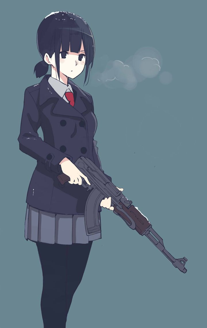 64 best gun girl images on pinterest - Gun girl anime ...