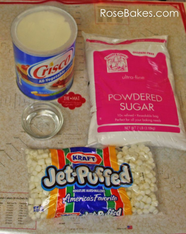 Homemade Marshmallow Fondant Ingredients
