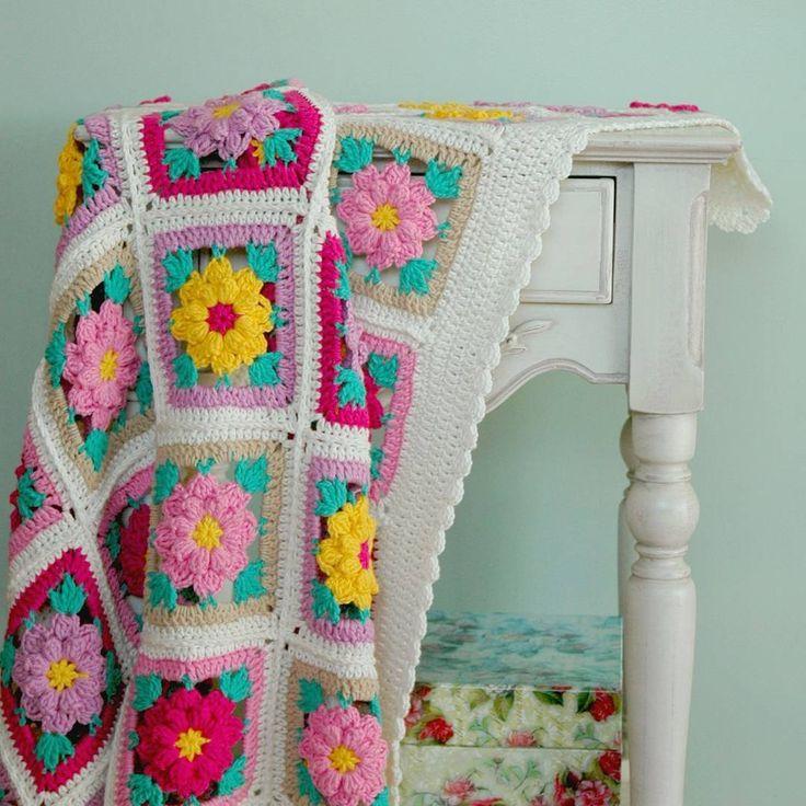 Beautiful flowery blanket