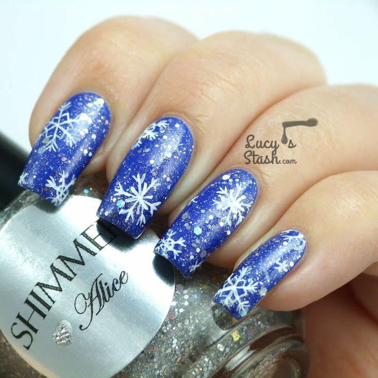Best 25+ Snowflake nail art ideas on Pinterest