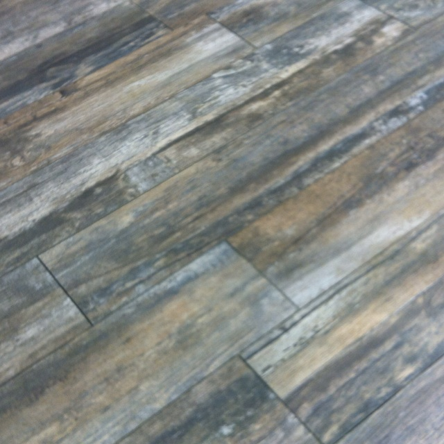 Reclaimed - Ash wood plank tile. Resistant to all moisture. Available in 8