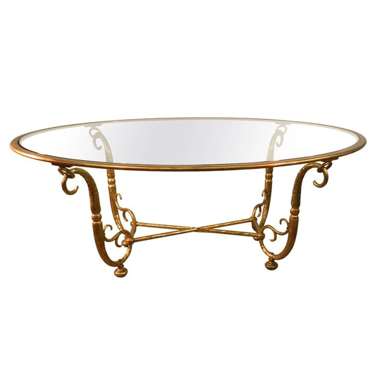 5k Italian Work, Large Golden Iron and Glass Dining Room Table  | From a unique collection of antique and modern dining room tables at https://www.1stdibs.com/furniture/tables/dining-room-tables/