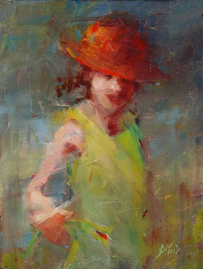 """Happiness Is...... by Donna MacDonald Oil ~ 12"""" x 9"""""""