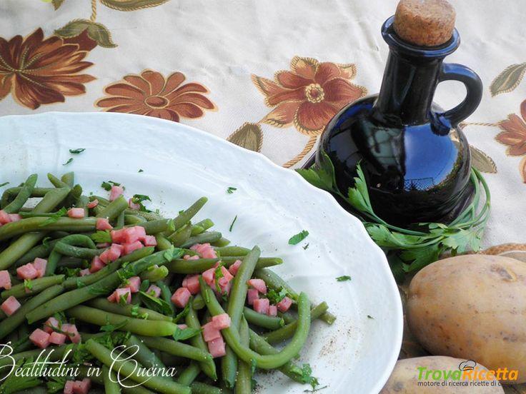 Fagiolini verdi al prosciutto cotto  #ricette #food #recipes