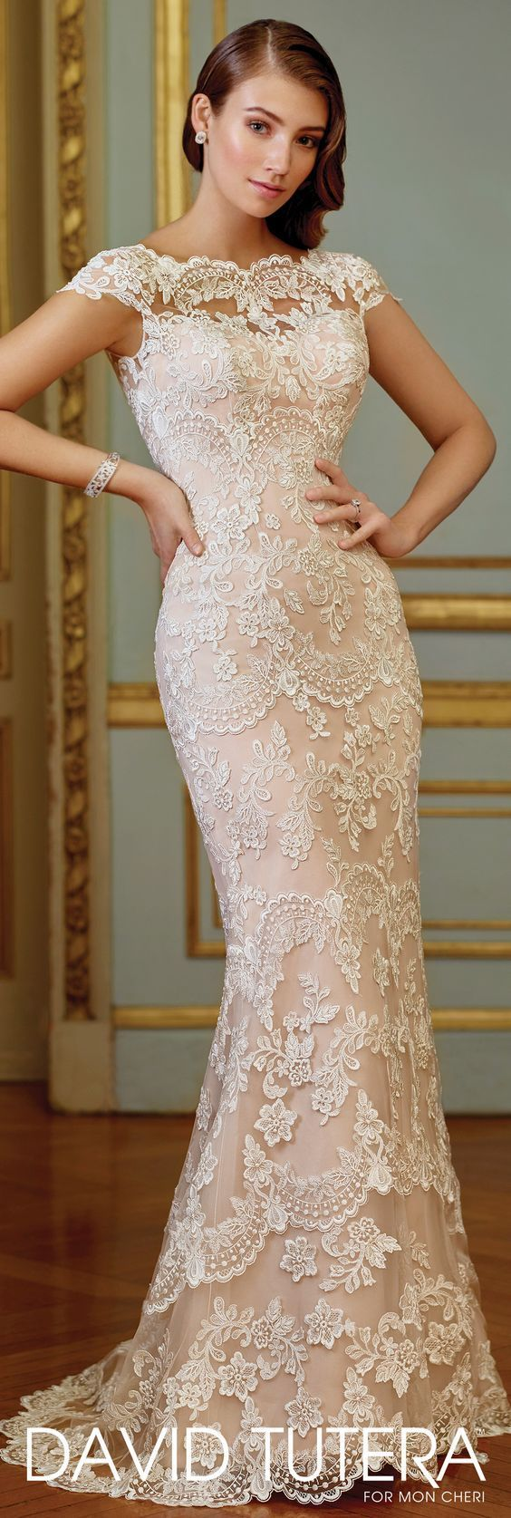 Featured Wedding Dress: David Tutera for Mon Cheri; Wedding dress idea.