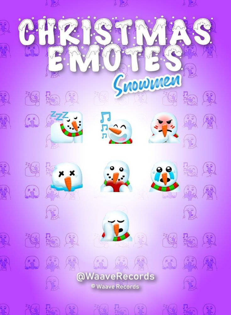 Christmas Emotes Twitch Emotes Snowman Christmas