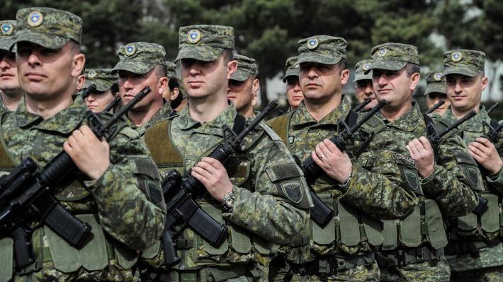 Άνδρες της «Δύναμης Ασφαλείας Κοσσόβου» (KSF)