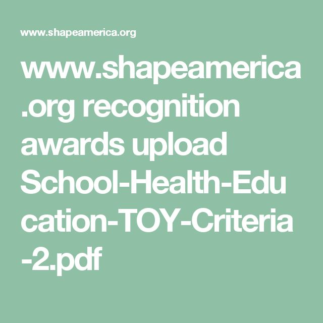 24 best school ideas images on pinterest school ideas 3rd grade shapeamerica recognition awards upload school health education toy fandeluxe Image collections