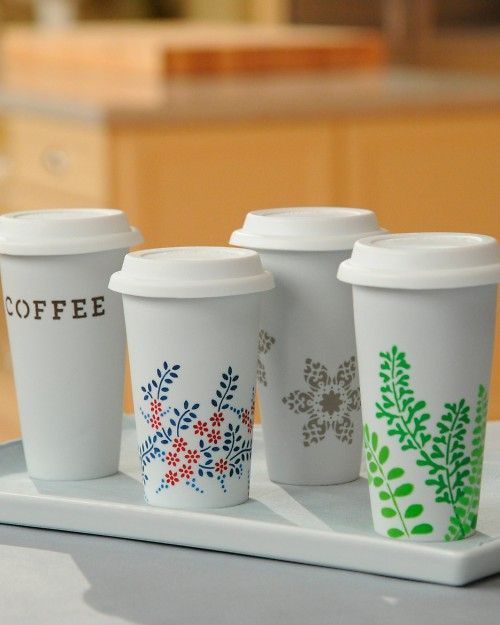 Personalized Coffee Mugs...and surprisingly it seems they are very easy to do.  Would be great for Bridal Party gifts for the day of!