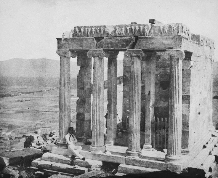 George Wilson Bridges - Temple of Wingless Victory (Temple of Athena Nike) Athens, 1848