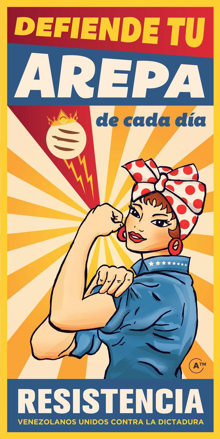 Doña Resistencia. Rosa la arepera.  Resistencia - Venezuela.  Harina Pan.: