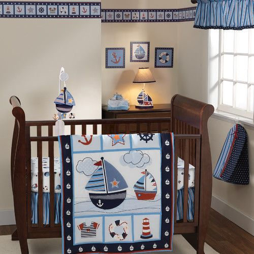 Found it at Wayfair - Sail Away 3 Piece Crib Bedding Set