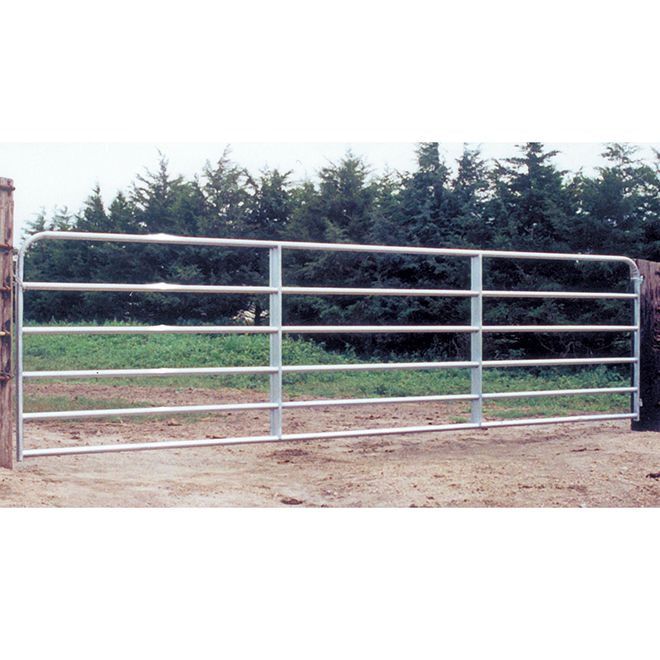 Behlen Country Fence Gate 6 Bars Galvanized Steel Tube 50